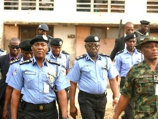 Abubakar while inspecting Ikeja Police College