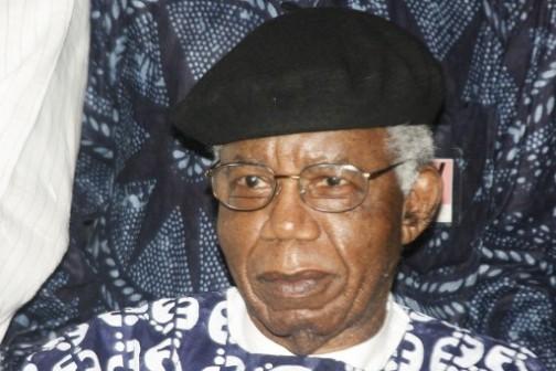 File Photo: Achebe on his return to Nigeria 1n 2009. AFP Photo