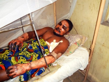 Bomb victim emmanuel Bassey: we saw a Golf car speeding towards us