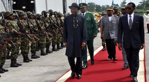 Jonathan inspects the guard of honour