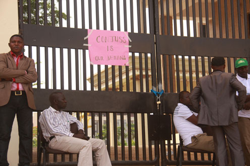 Look of the Federal High Court, Abuja gate during the strike action (1)