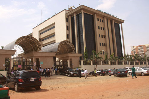 Look of the Federal High Court, Abuja gate during the strike action