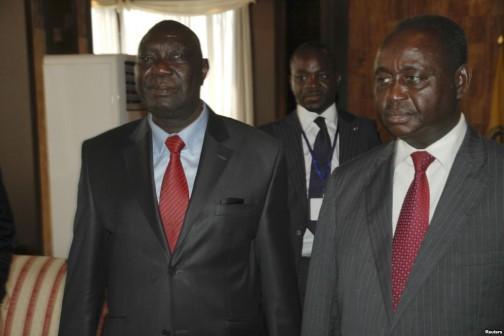 Michel Am-Nondokro Djotodia, left, CAR's new strongman