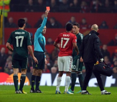 Red Card for Nani: the game changer