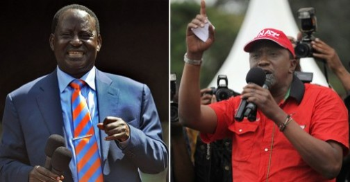 Odinga and Kenyatta