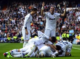 Real Madrid celebrate victory