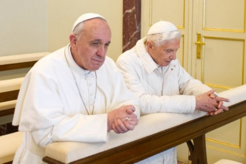 Pope Francis-and-Pope-Benedict-XV1.