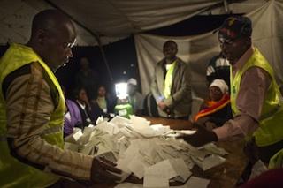 Vote counting in Kenya
