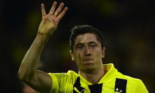 Dortmund Polish striker, Robert Lewandowski: joins Bayern in June