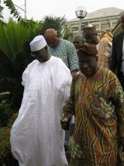 OBJ and Tony Anenih at the Hilltop residence of Obasanjo