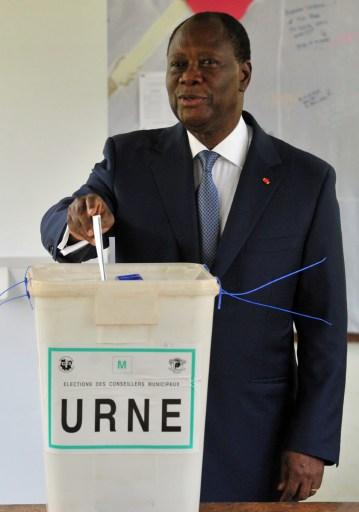President-Ouattara-casting-his-vote-