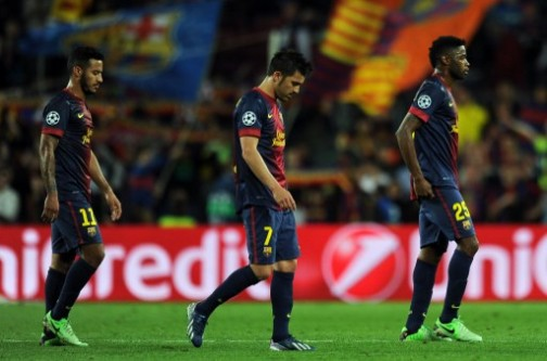 Heads bowed: a bad day for Barcelona at Camp Nou
