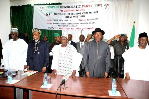 PDP NEC: SAMBO, GOODLUCK, TUKUR, SAM JAJA AAND ANENIH