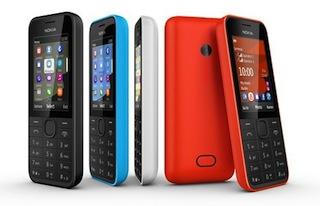 A set of Nokia phones