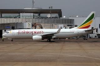 Ethiopian airline Boeing 737-800