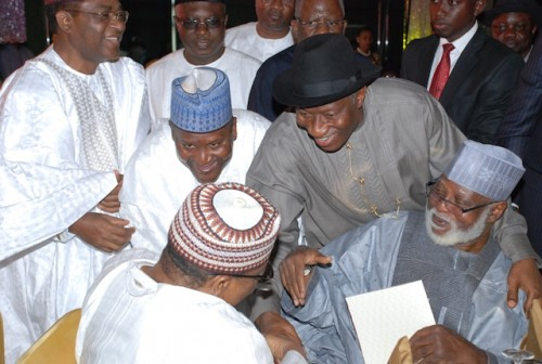 Aliko Dangote, President Goodluck Jonathan, Ibrahim Babangida, AbdulSalami Abubakar