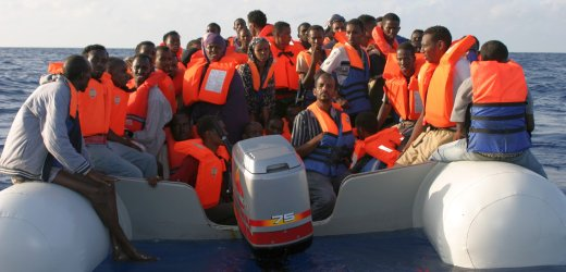 Bootsflüchtlinge vor Malta