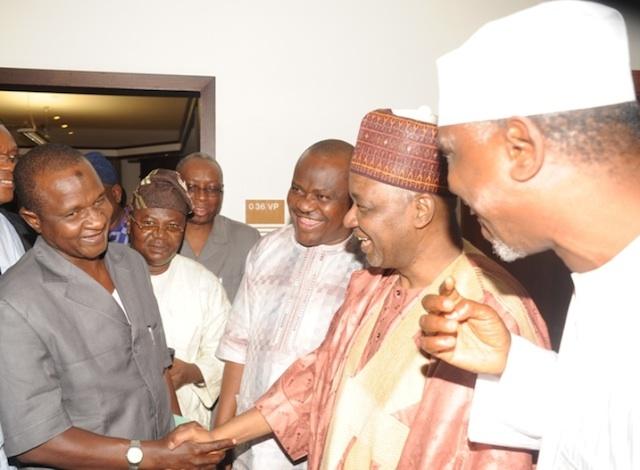 ASUU chairman Fagge, being received by VP Namadi Sambo in Aso Rock