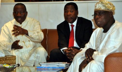 Jonathan, Yayi, Obasanjo in Abuja on Sunday