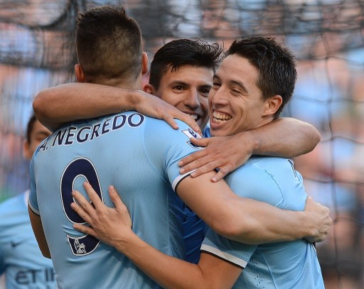 dance of joy- Nasri and other city players