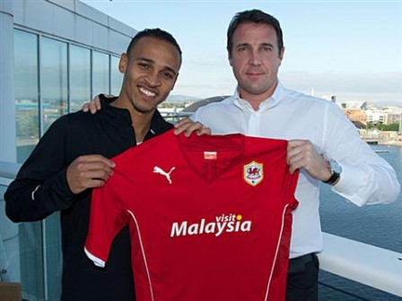 Odemwingie with Mackay when he joined Cardiff last September