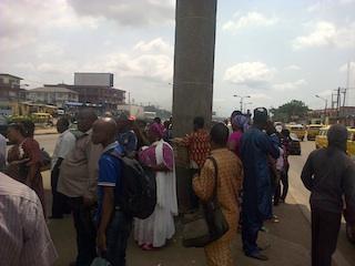 BRT passengers stranded at ikeja