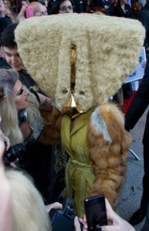 Lady Gaga in a weird costume
