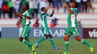 Nigeria's Under 17 boys jubilating