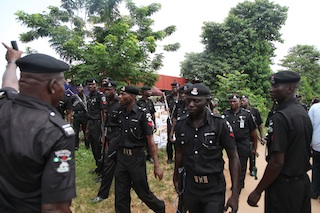 Policemen who came to disrupt protest against Oduah