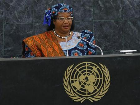 Malawi's President Banda addresses the 68th session of the United Nations General Assembly in New York