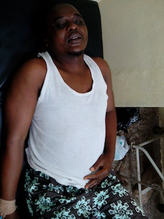 Victim of naval officers brutality