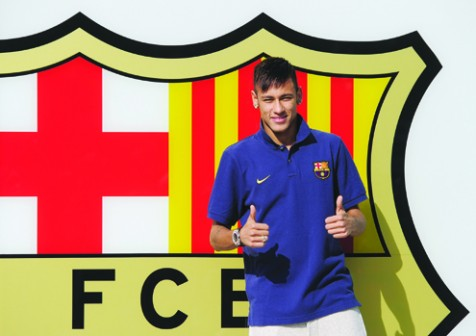 FC Barcelona's Neymar on the day he joined the team : His parents pocketed $50m
