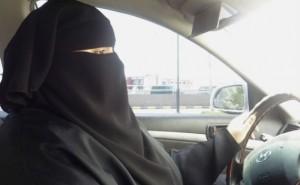 saudi woman driving a car