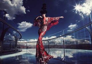 A model on Skywalk: