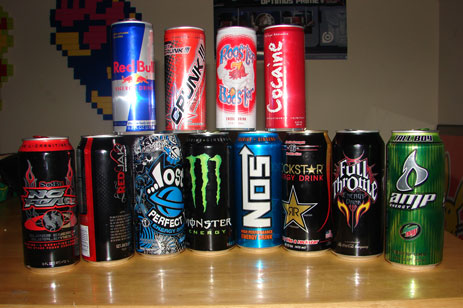 some energy drinks