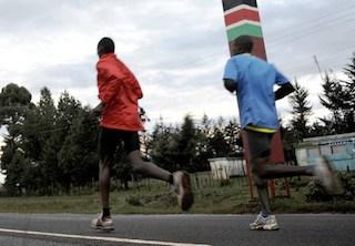 Kenya athletes in training. AFP photo