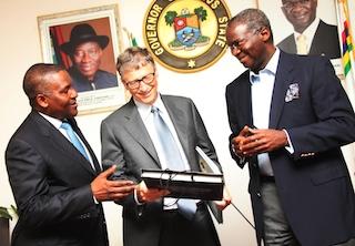 In Lagos: Aliko Dangote, Bill Gates, Fashola