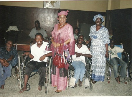 Christy Essien Igbokwe: in the midst of physically challenged children