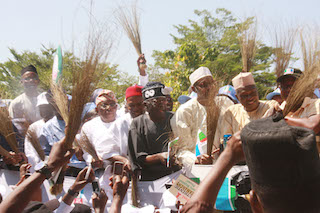 Another view of the APC leaders during the protest