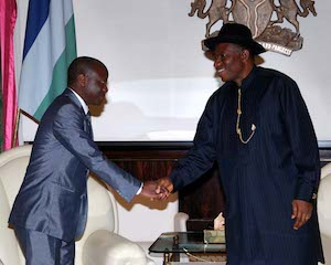 Jonathan with the special envoy from South Africa