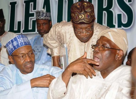 File photo: APC leaders at a meeting in Abuja