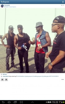 PSquare, Jude Okoye and Naeto C during the rehearsals