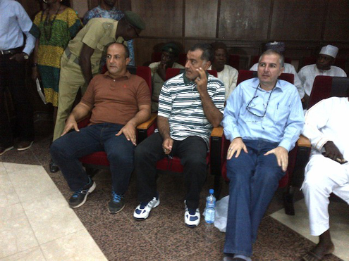 The three Lebanese suspects in court today