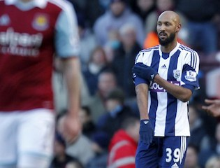 Anelka and his outstretched hand gesture