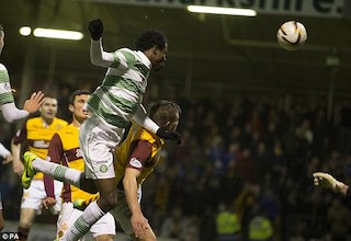 Efe Ambrose knocking in the ball. Photo Mail Online