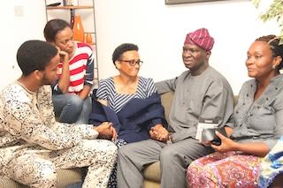 Fashola with the Ogunros