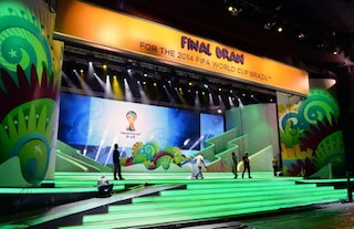 Another photo shot of the venue of the World Cup Draw in Bahia, Brazil. AFP