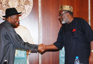 Jonathan meets Ohaneze Ndigbo leader