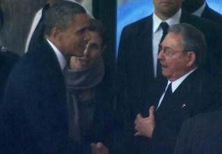 Obama meets Raul Castro