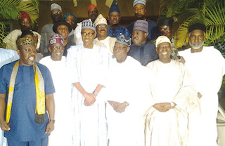 Obasanjo, 3rd right with APC leadersjpg